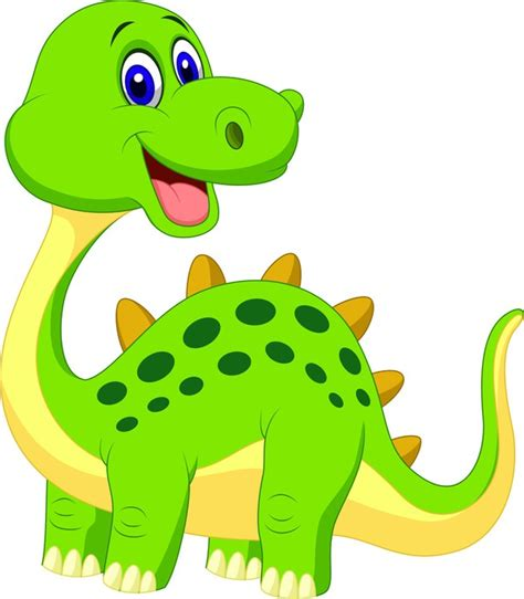 Vinilo Pixerstick Cute dibujos animados dinosaurio verde ...