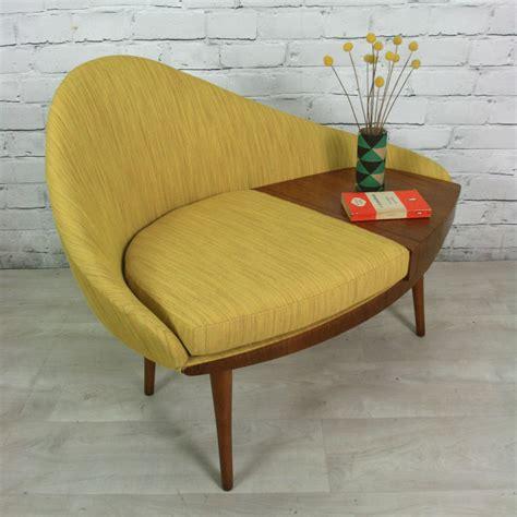 Vintage 1960s Telephone Seat   Mustard Vintage