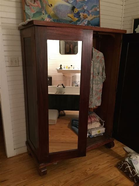 Vintage Armoire wardrobe cabinet with mirror 1930 s | eBay