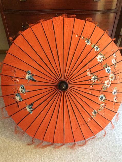 Vintage Asian Umbrella, Parasol, Japanese Umbrella ...