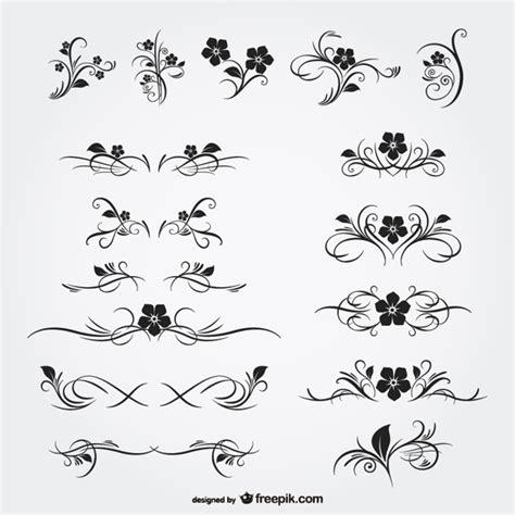Vintage floral page dividers | Free Vector