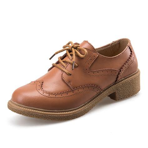 Vintage Genuine Leather Carved Brockden Oxford Shoes For ...