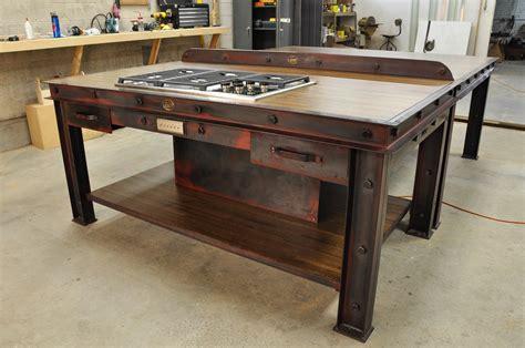 Vintage Industrial Kitchen Island – Vintage Industrial ...