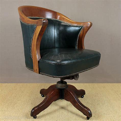 Vintage Leather Desk Chair.   Antiques Atlas