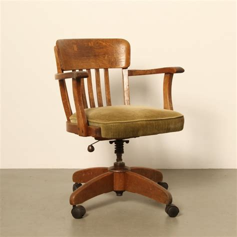 Vintage office chair, 1920s | #68146