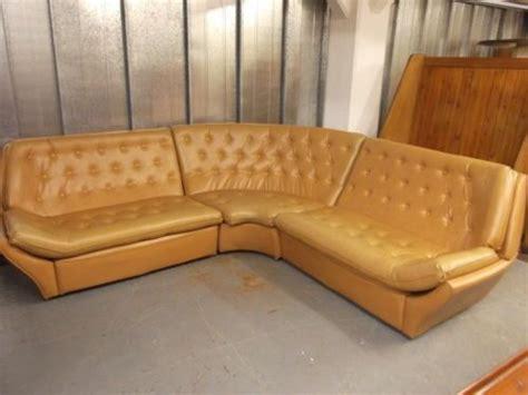 Vintage Retro 70s Tan Faux Leather Modular Corner Sofa ...