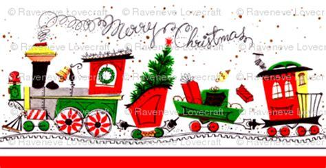 vintage retro merry Christmas trains railway tracks ...