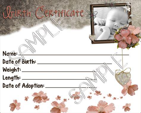 VINTY BABY Reborn Baby Doll Birth Certificate Instant ...