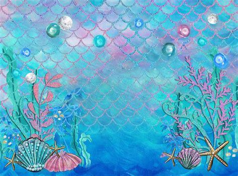 Vinyl birthday Background photography Backdrop Under Sea ...