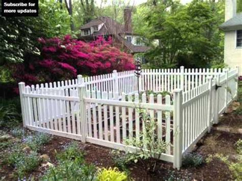 Vinyl Fencing For Gardens   Fence Ideas And Designs   YouTube