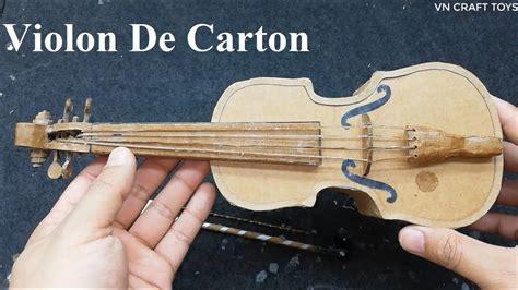 Violin de carton  How to make violin from cardboard    YouTube