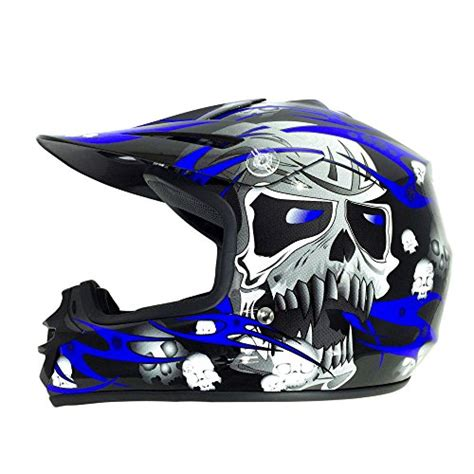 Viper Helmets   Casco da Moto per Bambini RSX12, Nero/Blu ...