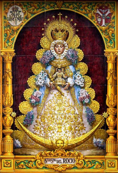 Virgen del Rocío Panel de Azulejos | Imágenes religiosas ...