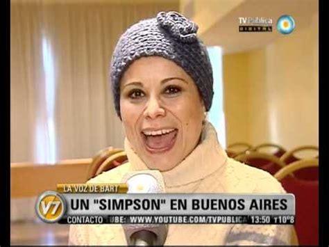 Visión Siete: La voz de Bart: Un  Simpson  en Buenos Aires ...