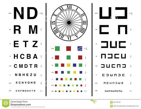 Vision test stock vector. Illustration of myopia, chart ...
