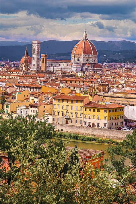 Vista desde Piazzale Michelangelo, Florencia Italia en ...