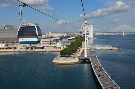 Vista do bondinho do Oceanário de Lisboa.   Picture of ...