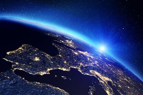 Vista Nasa Espacio Amanecer Europa Canvas Cuadro ...
