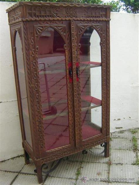 Vitrina de madera antigua estilo español   Vendido en ...