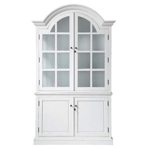Vitrina de madera blanca An. 132 cm Biarritz   Maisons du ...