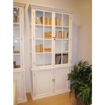 vitrina estanteria de madera y cristal lacada blanca copia ...