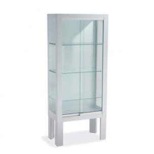 Vitrina pie puerta corredera blanca   cristal templado ...