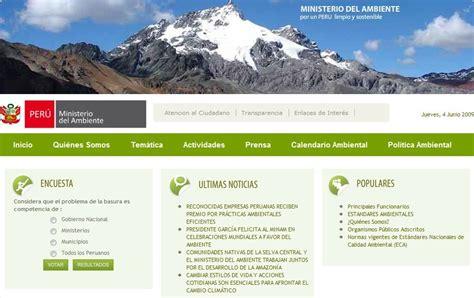 Vivir Eficiente: Ministerio del medio ambiente Perú