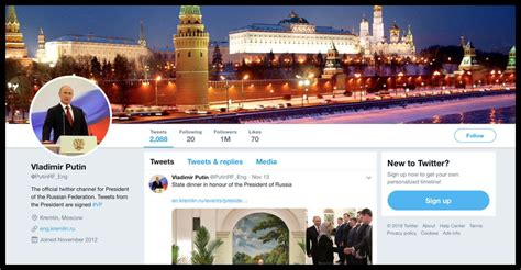Vladimir Putin s Twitter Account Appears to Have Been ...