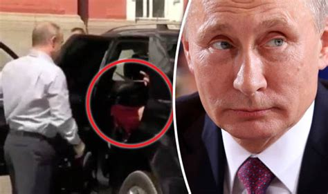 Vlaimir Putin mock after mystery woman in red seen in ...