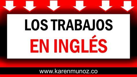 Vocabulario de Trabajos en ingles Aprender ingles rapido y ...