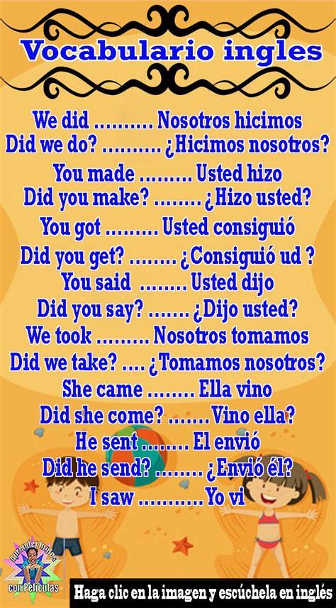 Vocabulario ingles, Clases de ingles gratis, Cursos de ...