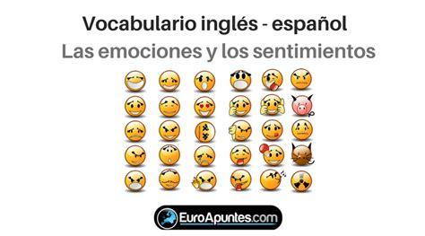Vocabulario inglés español emociones y sentimientos ...