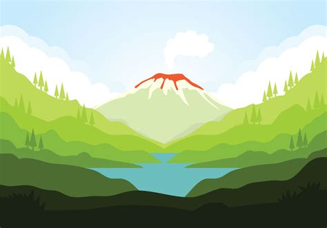 Volcano vector   Download Free Vectors, Clipart Graphics ...