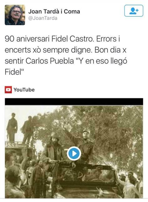 Volemvotar? Así homenajea el jefe de ERC a Fidel Castro ...