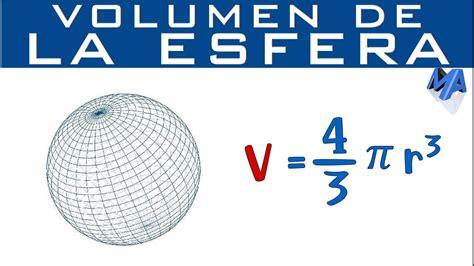 Volumen de una esfera conociendo radio o diámetro   YouTube