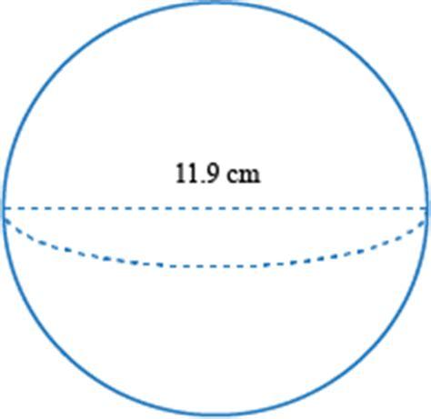 Volumen de una esfera Examples