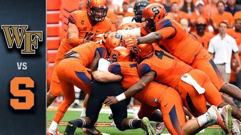 Wake Forest vs Syracuse | 2015 ACC Football Highlights ...