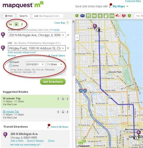 Walking Directions Now on MapQuest  Transit Too