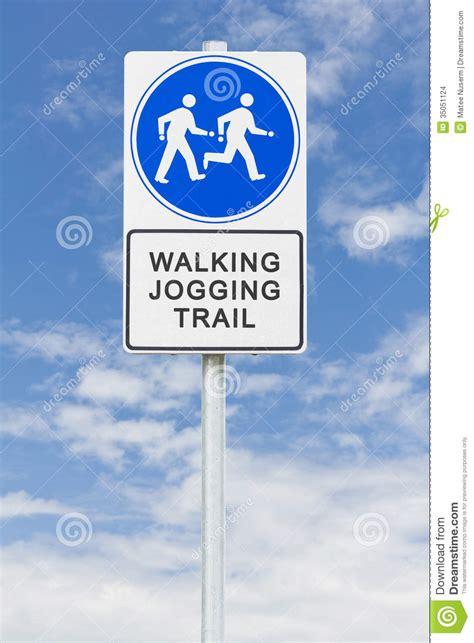 Walking Jogging Sign Stock Images   Image: 35051124