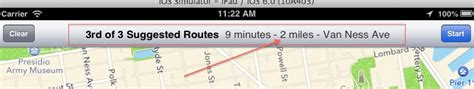Walking route distance between two locations using mapkit ...