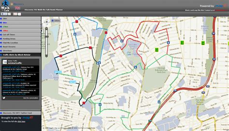 Walking Route Planner Map