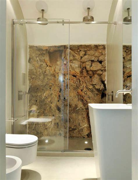 wall stone bathroom ideas