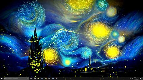 Wallpaper engine  The starry night    YouTube