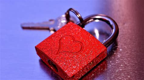 Wallpaper Love heart, Lock, Key, 4K, Love, #8972