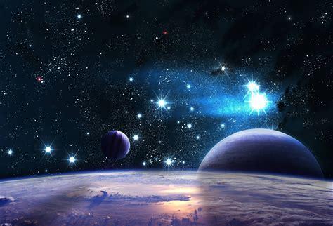 Wallpaper : night, galaxy, planet, stars, clouds, Earth ...