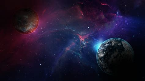Wallpaper space, galaxy, planet, 4k, Space #17043