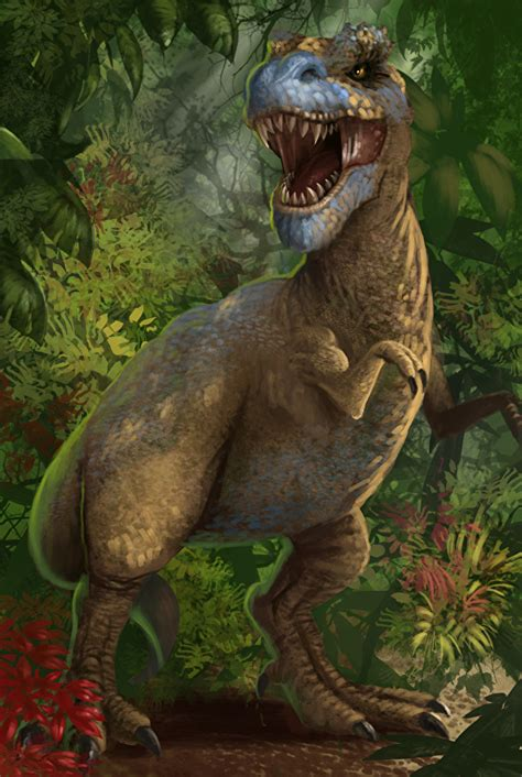 Wallpaper Tyrannosaurus rex Dinosaurs Roar Animals Ancient ...