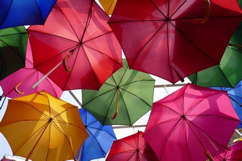 Wallpaper Umbrellas, Colorful, Panasonic Lumix CM1, Stock ...
