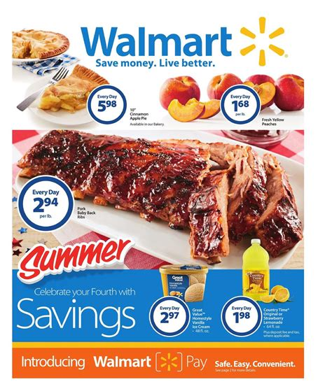 Walmart Ad Summer Deals Jul 1   Jul 16 2016