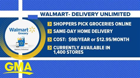 Walmart expands grocery delivery program l GMA   YouTube